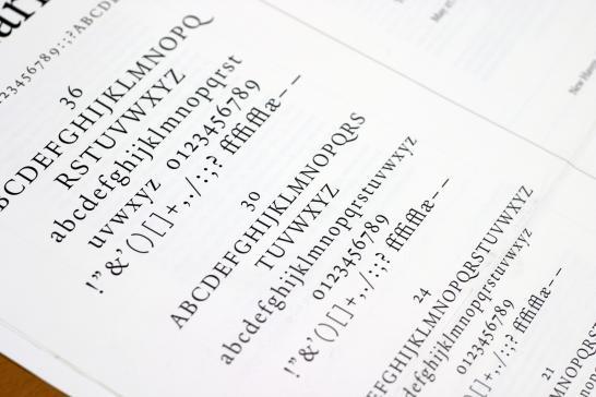 Typeface Specimen Sheet This is The Specimen Sheet For